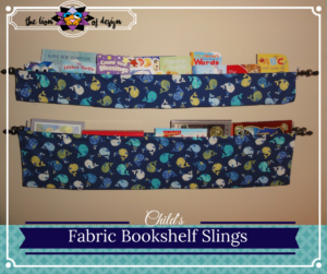 Fabric Bookshelf Slings