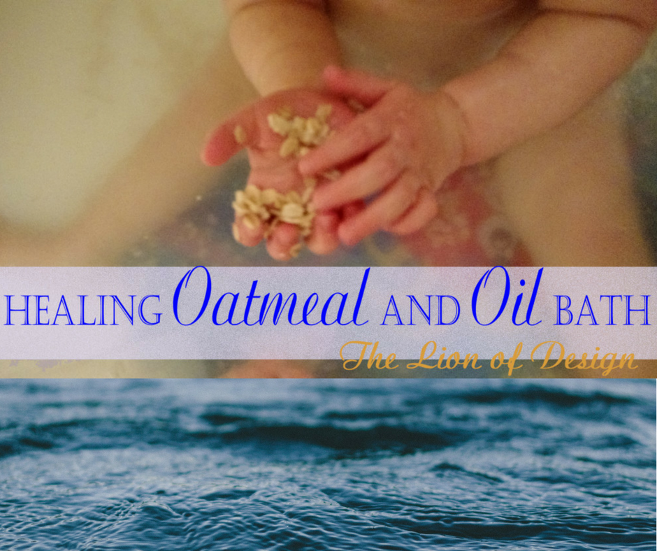 Healing Oatmeal and Oil Bath