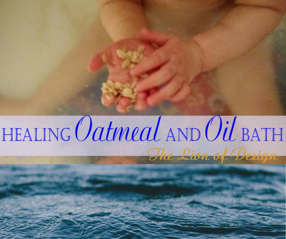 Healing Oatmeal and Oil Bath