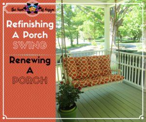 Refinishing a Porch Swing